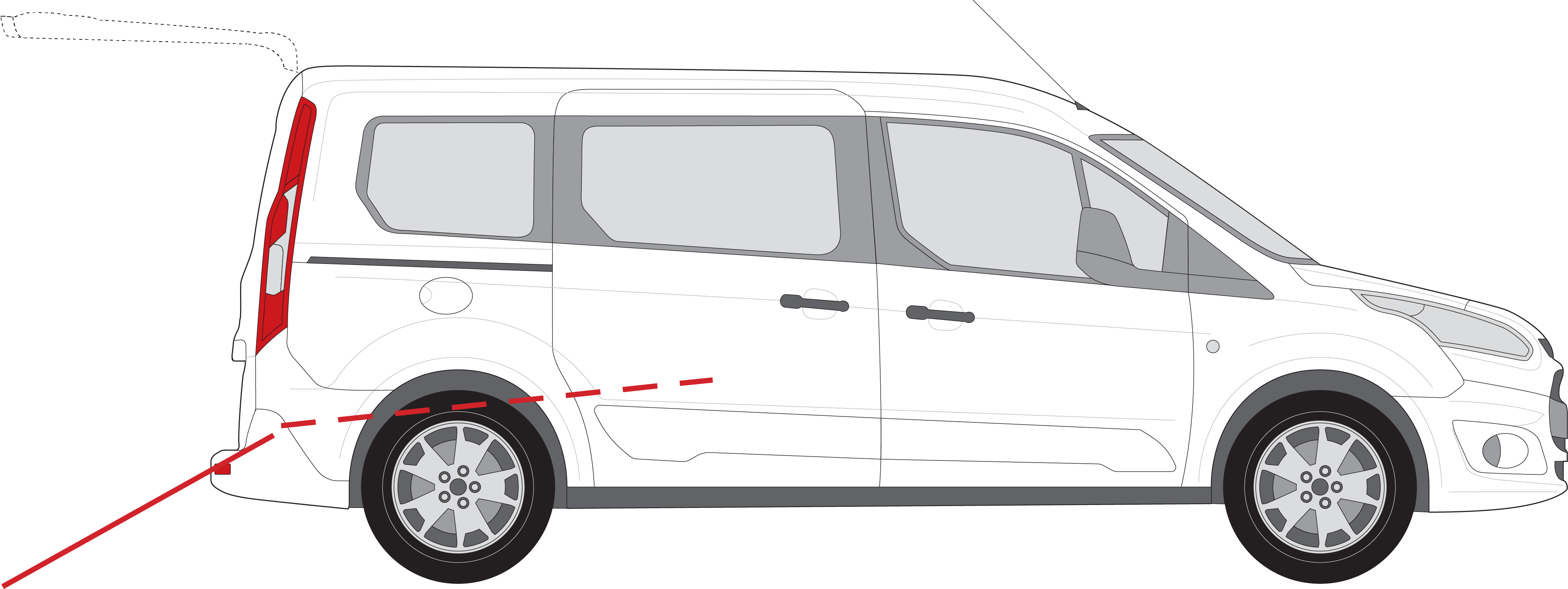 Ford Grand Tourneo Connect Con Pianale Rinassato
