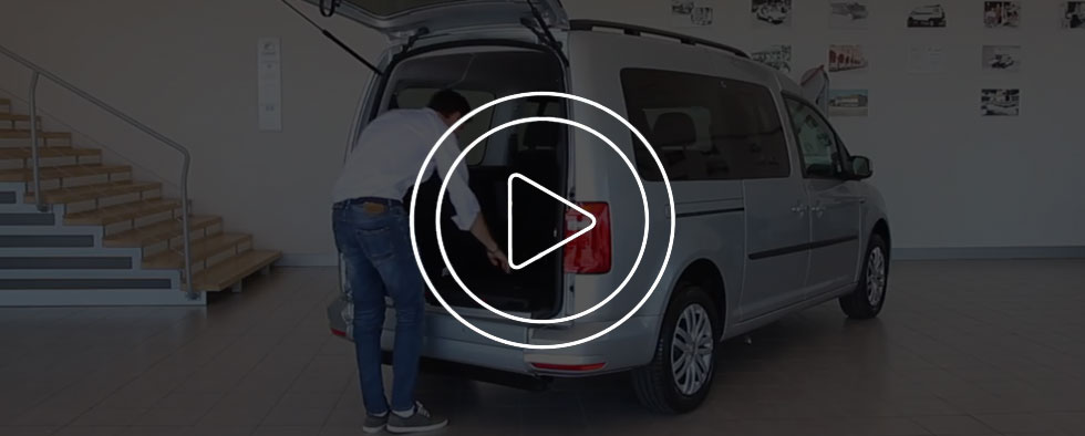 Volkswagen Caddy Maxi Trasporto Disabili Video