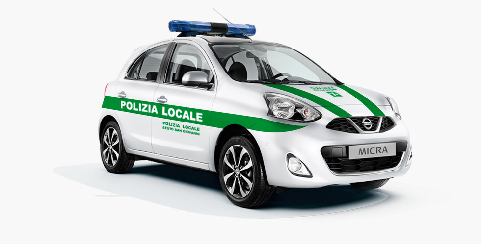 Nissan Micra Police Car Conversion