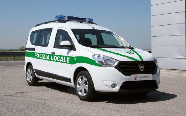 Dacia Dokker Police Car Conversion