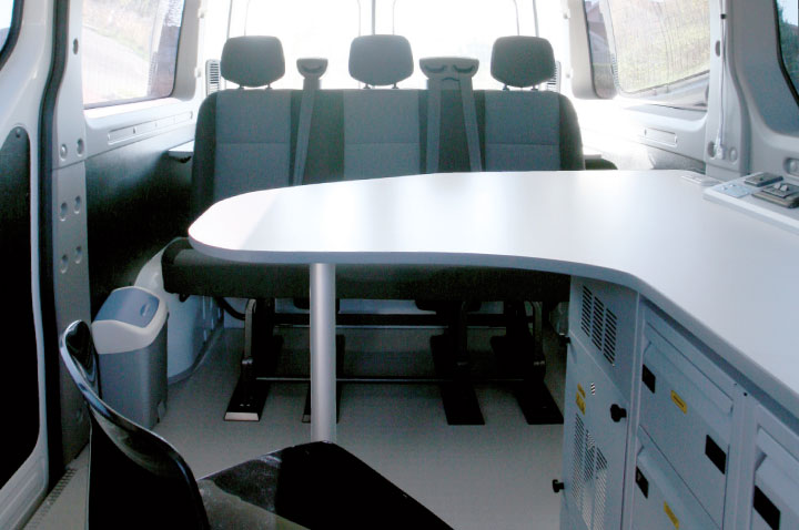 Large Desk for F Maxi Mobile Office