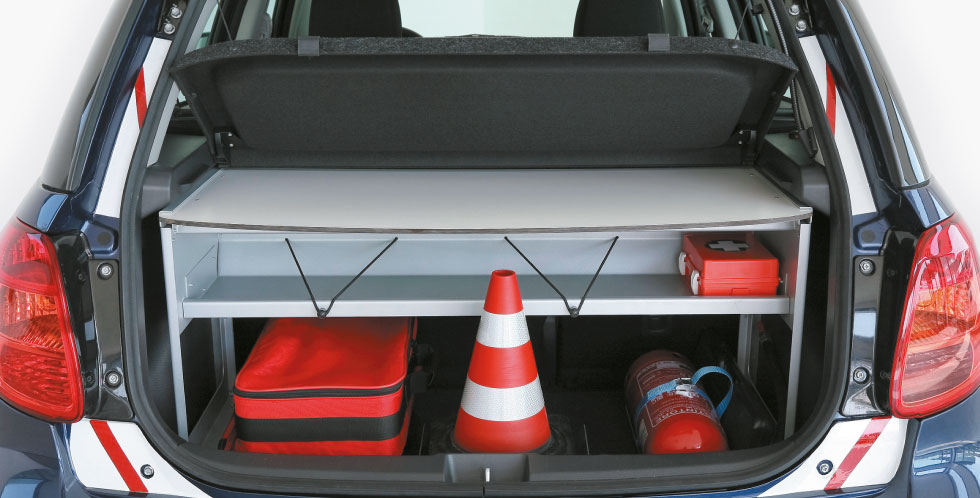 Basic Trunk Organizer Police Car