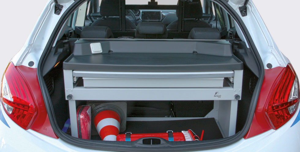 Evo Trunk Organizer Police Car