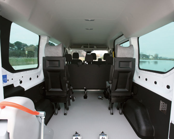 Wheelchair Accessible ford Transit Interior